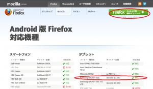 Mozilla Firefoxブラウザ